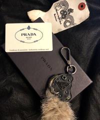 PRADA オールド2006モデル FOX TAIL ANIMAL Keyholder プラダKyoto 2006購入証明書BOX付
