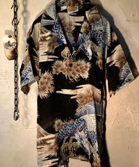 70,s KENNINGTON 希少ブラックベース和柄アロハシャツ美品