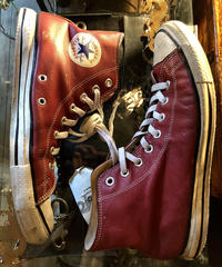 90,s vintage U.S.A. ALL STAR  BURGUNDY LEATHER HI US8.5 27.0cm