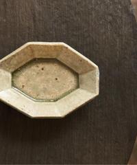 境道一 / ミモザ釉 八角豆皿