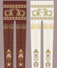Baroque x Sakizo Repose of Queen ~女王の安息所~ プリントタイツ【ご予約商品】