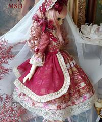 Repose of Queen ~女王の安息所~  コロネーションドールドレス  MSD SIZE DRESS SET 【決済3日以内発送】