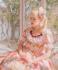 [Baroque]  Baroque x Sakizo Strawberry field's Cats ~イチゴ畑の猫たち~ ハンドメイドイチゴリボンピン【ご予約商品】