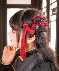 [Baroque] BāoBāoTou(包包頭)お花ピン+お結びセット【ご予約商品、ヘッドアイテムセット割あり】