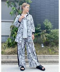 SRIC ★ slash print 2way blouse