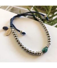 PEACHE ★ anklet & bracelet / silver turquoise