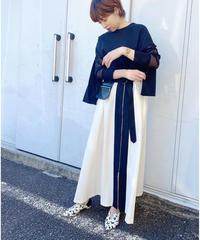 SRIC ★ asymmetry zip skirt