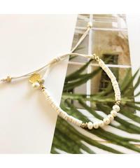 PEACHE ★ anklet & bracelet / pearl white