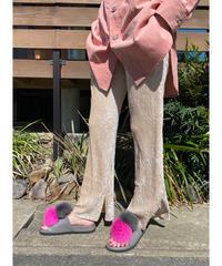 CHIGNONSTAR ★ velours pleats pants