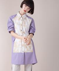 SRIC ★ tie-dye yoke shirt