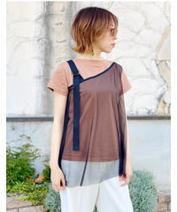 SRIC ★ asymmetry bustier docking t-shirt