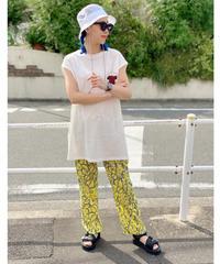 CHIGNONSTAR ★ leaf print pants
