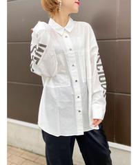 CHIGNON ★ sleeve logo print shirt