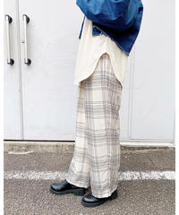 CHIGNONSTAR ★check easy pants