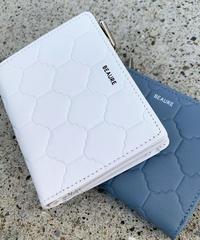 【B-20152】BEAURE ヴュレ カウレザー タイル 型押し 2つ折り 財布