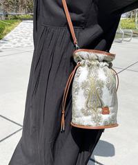 【B-20231】BEAURE ヴュレ ペイズリー 2WAY 巾着 バッグ