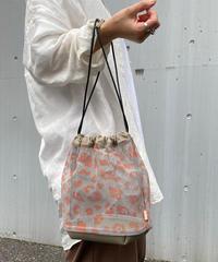 【B-20209】BEAURE ヴュレ レオパード メッシュ 巾着 ショルダー