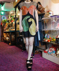 【Vintage】Beads  tight dress/総ビーズワンピース