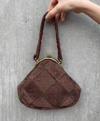 "【Used】Frame purse ""metal brown"" / がま口ハンドバッグ"