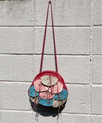 【Vintage】1980's leather shoulder bag / デザインショルダーレザーバッグ