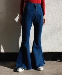 【migration】Super flare blue denim pants / スーパーフレアデニムパンツ / mg422