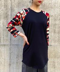 【Used】Flower motif raglan sleeve tops /ラグランスリーブ花柄トップス