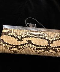 【Vintage】Python patten clutch bag / パイソン柄クラッチバッグ
