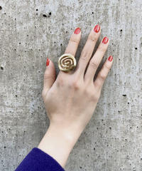 "【Used】Circle ring ""gold"" / ぐるぐるリング"