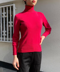 """【Used】Turtleneck tops """"Red """" / タートルネックトップス"""