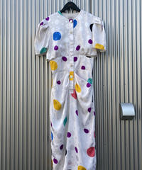 【Vintage】Colorful dot one piece / カラフル水玉ワンピース