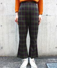 【Used】Tartan check flare pants / タータンチェックフレアパンツ