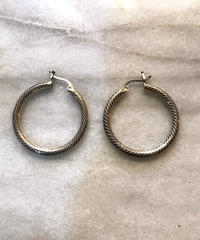 【Selected item】silver 925 pierce/ループピアス