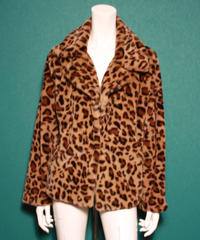 【migration】Leopard patten fake fur jacket / mg-168 / ヒョウ柄フェイクファージャケット