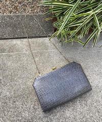 【Vintage】Python printed shoulder bag / パイソン柄ショルダーバッグ