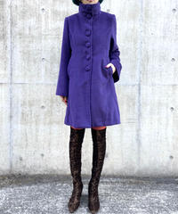 【Used】Purple medium coat / ミディアム丈コート