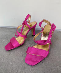 "【Vintage】Ankle strap sandal ""Shocking pink""  / アンクルストラップサンダル"