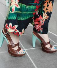 """【Used】""""CELINE"""" Leather wood sandal / レザーウッドサンダル"""