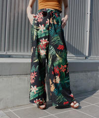 【migration】Tropical pattern wide pants / トロピカル柄ワイドパンツ / mg316
