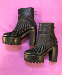 【Used】Leather heal side gore boots / レザーヒールサイドゴアブーツ