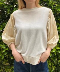 【Used】Switching puff sleeve tops / 切り返しパフリーブトップス