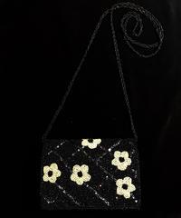 【Used Item】Flower motif  beads shoulder bag / お花モチーフショルダービースバッグ