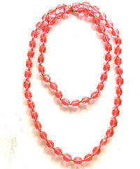【Used】Clear color necklace / クリアカラーピンクネックレス