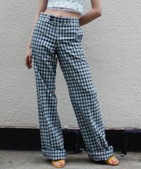 【DEADSTOCK】Check high-waist pants / チェック柄ハイウエストパンツ