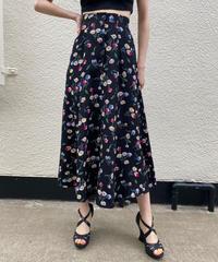 【Used】Flower print  long skirt / 花柄ロングスカート