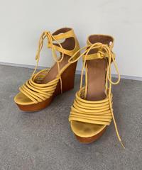 "【Used】Wedge sole Sandals  ""yellow"" / ウエッジソールサンダル"