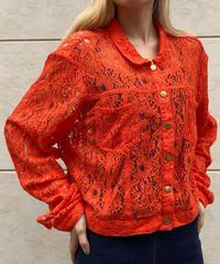 【Used】Orange lace jacket / オレンジレースジャケット
