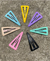 【Selected item】Triangle enamel hair clip / 三角エナメルヘアクリップ / mg521.