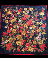 【Used】Classic flower patten Scarf / クラシック花柄スカーフ