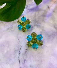 【Vintage】Flower bead earrings / お花ビーズイヤリング