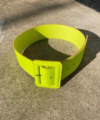 "【Used】Wide belt ""Neon yellow"" / 太ベルト"